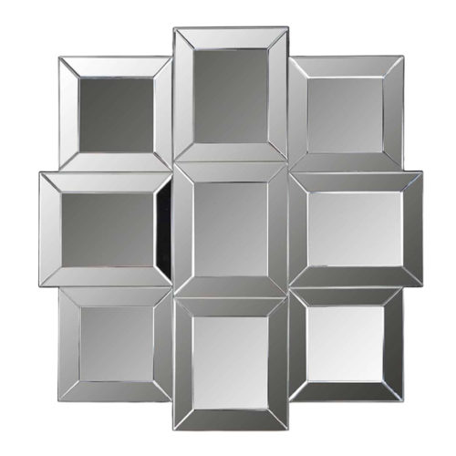 Декор дизайнерський. Дзеркало настінне в стилі хай-тек. 9 елементів різного розміру. Метал, скло. Колекція Xeon, Голландія