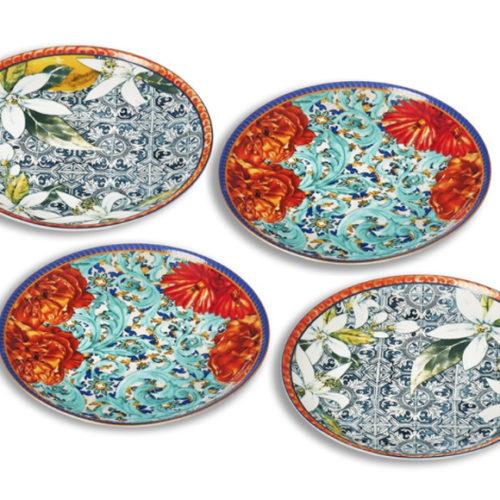 фото Набор из 4 десертных блюдец. Фарфор. Коллекция Taormina Henriette, Италия