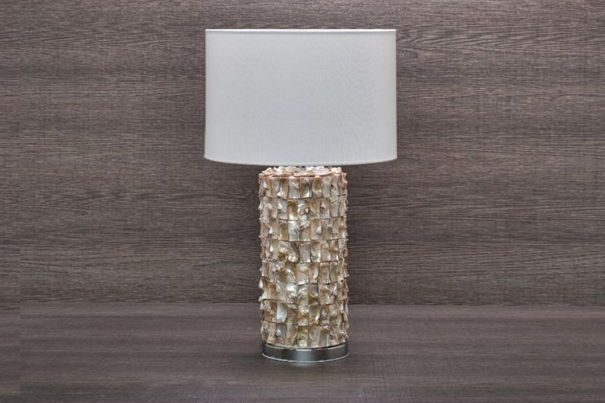 Лампа настольная. Керамика, ткань. Высота 58см. Коллекция DYNASTY, Италия