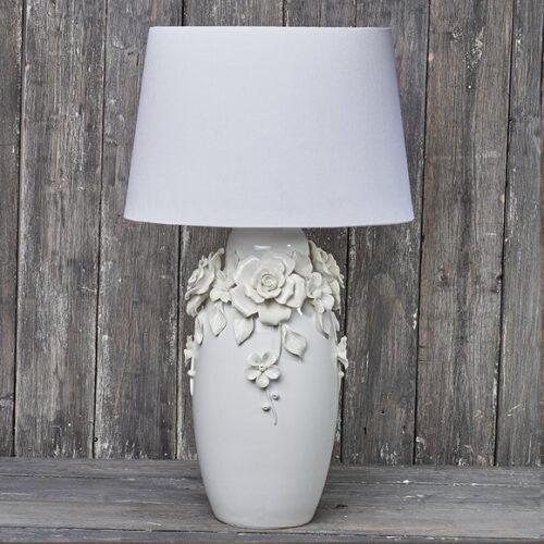 Лампа настольная. Ткань, керамика. Высота 73см. Коллекция BIANCA, Италия