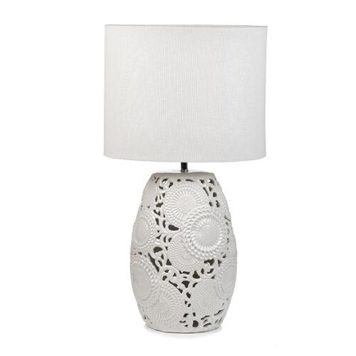 Лампа настольная. Ткань, керамика. Высота 65см. Коллекция BIANCA, Италия