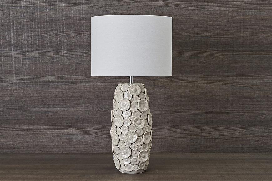 Лампа настольная. Керамика, ткань. Высота 68см. Коллекция FLORES, Италия
