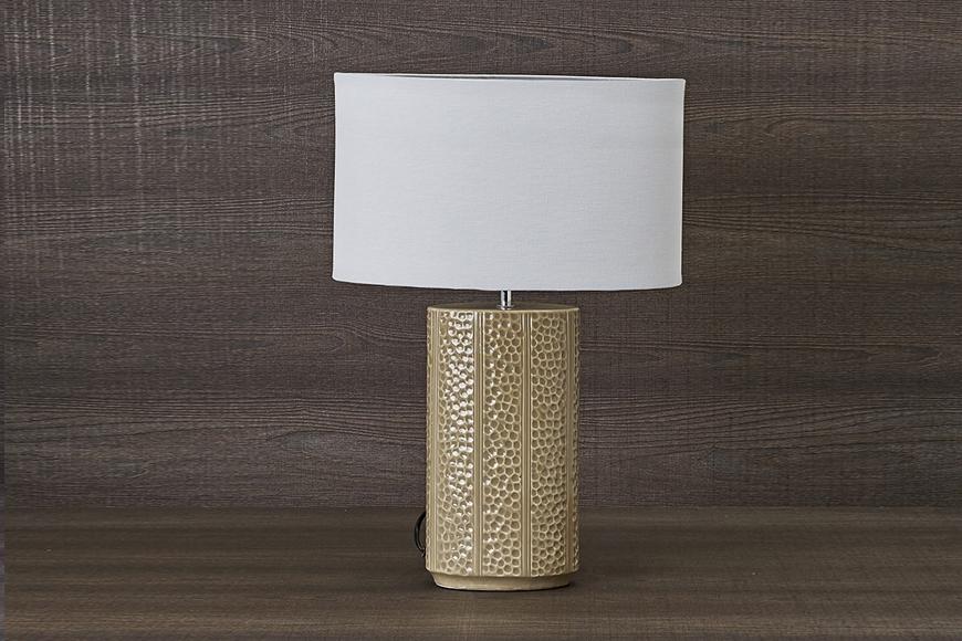 Лампа настольная. Ткань, керамика. Высота 56см. Коллекция MAREA, Италия