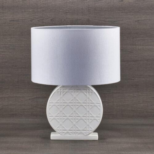 Лампа настольная. Ткань, керамика. Высота 6Ксм. Коллекция ROTONDA, Италия