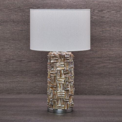 Лампа настольная. Ткань, керамика. Высота 65см. Коллекция ROYALTY, Италия