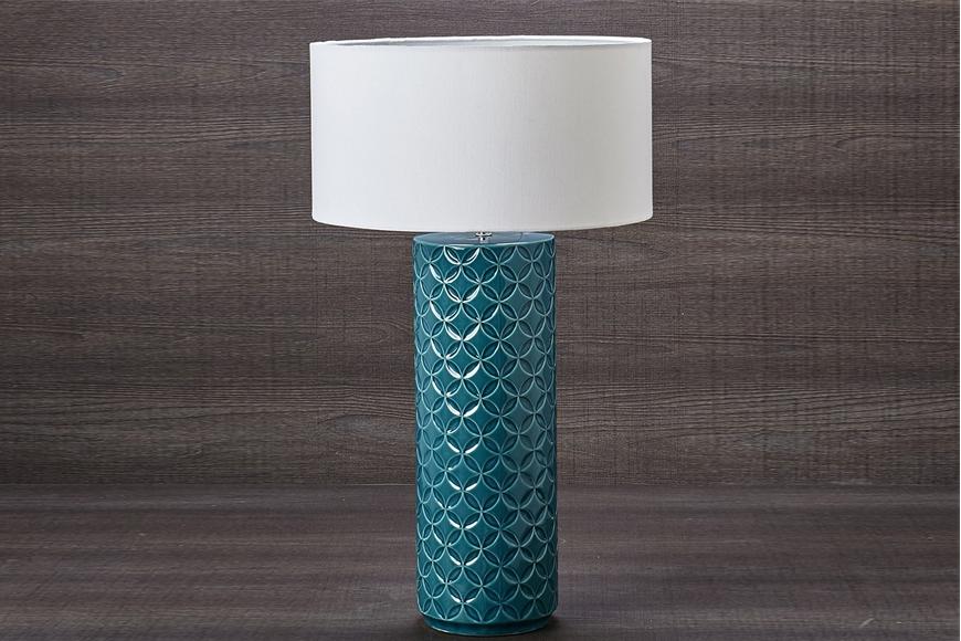 Лампа настольная. Керамика, ткань. Высота 71см. Коллекция SIRENА, Италия