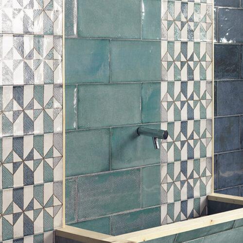 Плитка керамическая настенная, гланцевая. Коллекция Еsenzia Mare, Испания