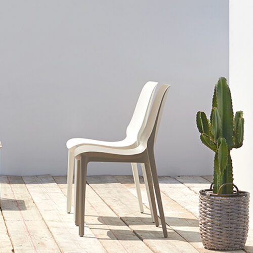 Стулья для сада, террасы, балкона. Технополимер. Коллекция Ginevra, Италия