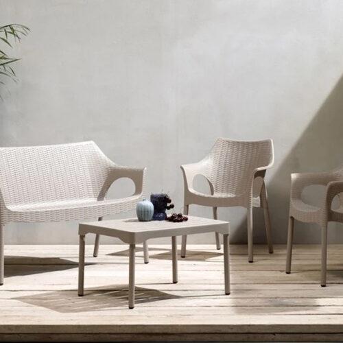 Комплект мебели для сада, террасы, балкона. Высококачественный технополимер. Коллекция Оlimpo, Италия