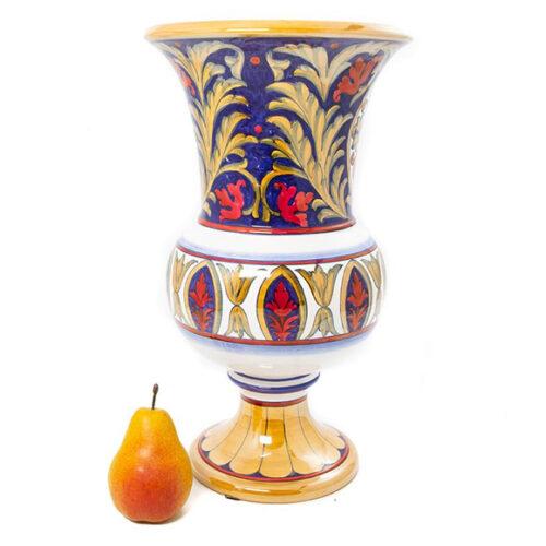Ваза в форме старинного кубка с художественной росписью. Ручная работа. Керамика. Коллекция Lustro Antico, Италия