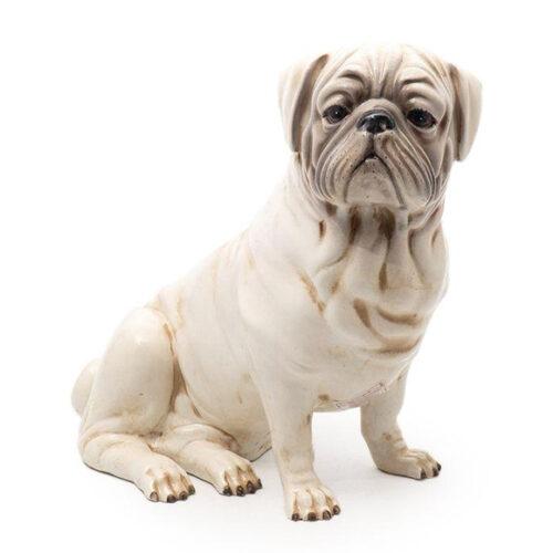 Статуэтка в виде собаки породы мопс. Керамика. Toscana, Италия
