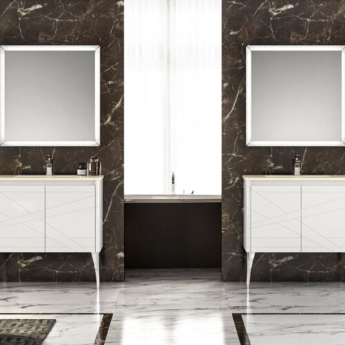 Мебель для ванной комнаты премиум класса. Натуральное дерево, мрамор. Классический и современный стили. Коллекция SHANGHAI, Италия