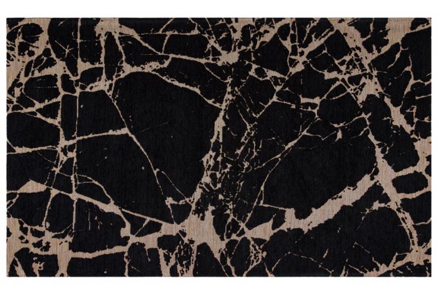 Ковер безворсовый с рисунком под мрамор. Хлопок, акрил. Возможны разные размеры. Цвет Black Gold. Коллекция Smart, Турция