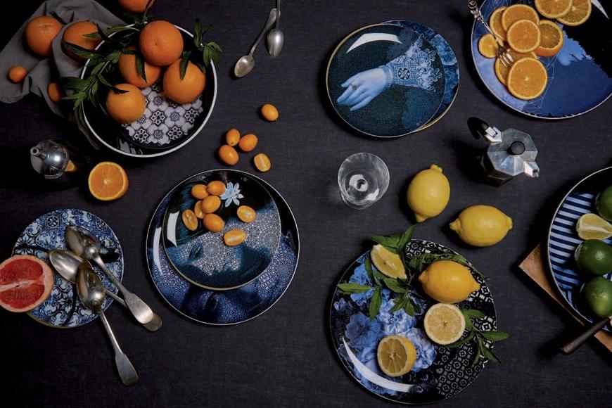 Комплект посуды для сада, террасы, бассейна. Меламин. Количество предметов 8 шт. Коллекция Уuam Оsorio, Франция